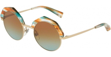Gafas de Sol - Alain Mikli - A04006 SITELLE - 002/5D LIGHT MATTE GOLD PAINT BROWN // AZURE GRADIENT BROWN