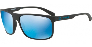 Sunglasses - Arnette - AN4244 BUSHING - 01/55 MATTE BLACK // BLUE MIRROR BLUE