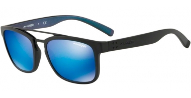Sunglasses - Arnette - AN4248 BALLER - 254725 MATTE BLACK // GREEN MIRROR LIGHT BLUE