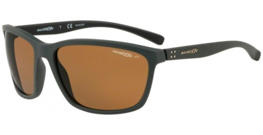 Sunglasses - Arnette - AN4249 HAND UP - 255083 DARK GREEN RUBBER // BROWN POLARIZED