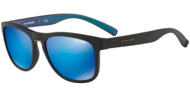 Gafas de Sol - Arnette - AN4252 WOKE - 254725 MATTE BLACK // GREEN MIRROR LIGHT BLUE