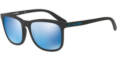 Sunglasses - Arnette - AN4240 CHENGA - 01/55 MATTE BLACK // BLUE MIRROR BLUE
