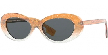 Sunglasses - Burberry - BE4278 - 376587 TOP GLITTER ON GRADIENT ORANGE // GREY