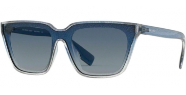 Sunglasses - Burberry - BE4279 - 37664L GLITTER TRANSPARENT TOP GRADIENT BLUE // BLUE GRADIENT
