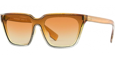 Sunglasses - Burberry - BE4279 - 37672L GLITTER TRANSPARENT TOP GRADIENT YELLOW // LIGHT YELLOW OCHRE GRADIENT