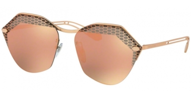 Sunglasses - Bvlgari - BV6109 - 20134Z MATTE PINK GOLD // GREY MIRROR ROSE GOLD