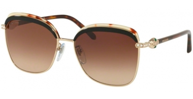 Sunglasses - Bvlgari - BV6112B - 278/13 PALE GOLD // BROWN GRADIENT
