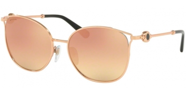 Sunglasses - Bvlgari - BV6114 - 20144Z PINK GOLD // GREY MIRROR ROSE GOLD