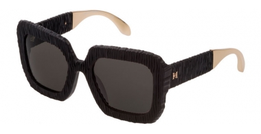 Lunettes de soleil - Carolina Herrera New York - SHN600  - 0703  MATTE BLACK // BROWN
