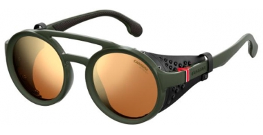 Sunglasses - Carrera - CARRERA 5046/S - DLD (K1) MATTE GREEN MILITARY // GOLD MIRROR
