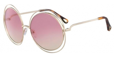 Sunglasses - Chloé - CE114SD CARLINA - 702 GOLD HAVANA // GRADIENT ROSE HONEY