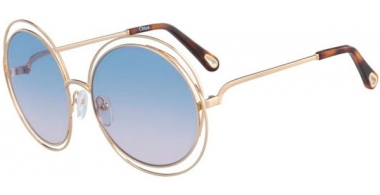 Sunglasses - Chloé - CE114SD CARLINA - 706 GOLD HAVANA // GRADIENT AZURE ROSE