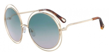 Sunglasses - Chloé - CE114SD CARLINA - 751 GOLD HAVANA // GREEN GRADIENT ROSE