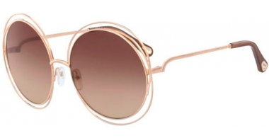 Sunglasses - Chloé - CE114SD CARLINA - 784 ROSE GOLD // BROWN GRADIENT
