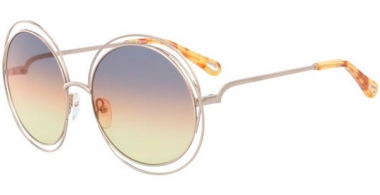 Sunglasses - Chloé - CE114SD CARLINA - 812 GOLD // GREY ORANGE YELLOW GRADIENT