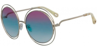 Sunglasses - Chloé - CE114SD CARLINA - 814 GOLD // PURPLE AZURE GRADIENT