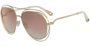 Sunglasses - Chloé - CE134S CARLINA - 794 GOLD MARBLE // ROSE GRADIENT PEACH