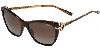 Sunglasses - Chopard - SCH232S - 9XKP  SHINY DARK HAVANA // BROWN GRADIENT ANTIREFLECTION POLARIZED