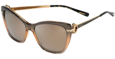 Sunglasses - Chopard - SCH232S - TA9P  GREY BEIGE // BROWN MIRROR SILVER ANTIREFLECTION POLARIZED