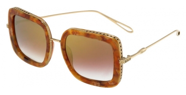 Sunglasses - Chopard - SCH261M - 300G  SHINY GOLD LIGHT BROWN // BROWN GRADIENT MIRROR GRADIENT GOLD ANTIRREFLECTION