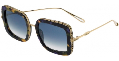 Sunglasses - Chopard - SCH261M - 300X  SHINY GOLD SPOTTED MULTICOLOR // BLUE GRADIENT MIRROR SILVER ANTIRREFLECTION