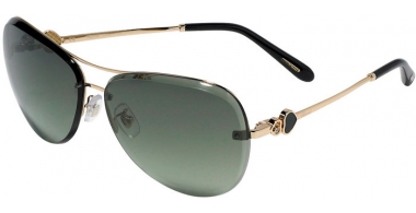 Sunglasses - Chopard - SCHC88S - 300X  SHINY GOLD // GREEN GRADIENT
