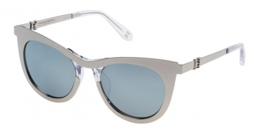 Lunettes de soleil - Carolina Herrera New York - SHN043M - 579X SHINY PALLADIUM // GREY SILVER MIRROR