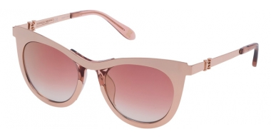 Lunettes de soleil - Carolina Herrera New York - SHN043M - 8FCG SHINY PINK GOLD // VIOLET GRADIENT MIRROR GOLD