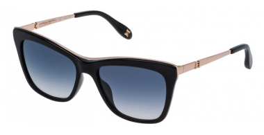 Sunglasses - Carolina Herrera New York - SHN584M - 0700 SHINY BLACK // BLUE GRADIENT