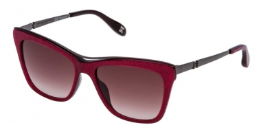 Sunglasses - Carolina Herrera New York - SHN584M - 0WA1 SHINY TRANSPARENT RASPBERRY GLITTERY // BROWN GRADIENT PINK