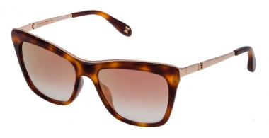 Sunglasses - Carolina Herrera New York - SHN584M - 752G SHINY BROWN HAVANA // VIOLET MIRROR GOLD