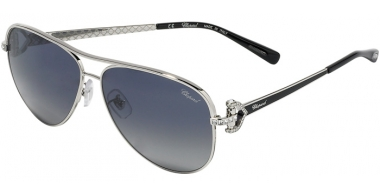Sunglasses - Chopard - SCHC17S - 583P SILVER PALLADIUM BLACK // BLUE GRADIENT GREY  ANTIREFLECTION
