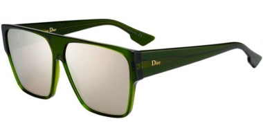 Sunglasses - Dior - DIORHIT - 1ED (SQ)  GREEN // MULTILAYER GOLD