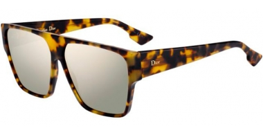 Sunglasses - Dior - DIORHIT - EPZ (QV)  YELLOW RED HAVANA // IVORY MULTILAYER ANTIREFLECTION