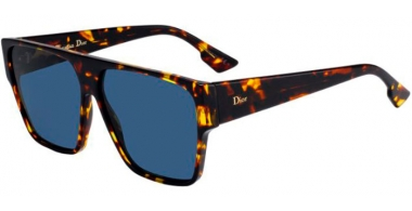 Sunglasses - Dior - DIORHIT - P65 (A9)  BROWN YELLOW HAVANA / BLUE GREY ANTIREFLECTION