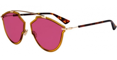 Sunglasses - Dior - DIORSOREALRISE - 001 (U1)  YELLOW GOLD // PINK