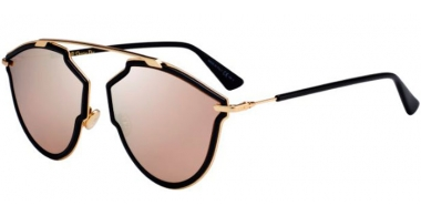 Sunglasses - Dior - DIORSOREALRISE - 2M2 (SQ)  BLACK GOLD // MULTILAYER GOLD