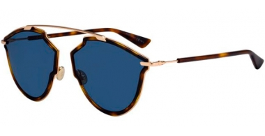 Sunglasses - Dior - DIORSOREALRISE - QUM (KU)  DARK HAVANA GOLD // BLUE GREY