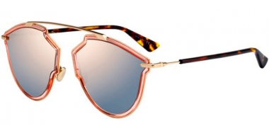 Sunglasses - Dior - DIORSOREALRISE - S45 (0J)  PINK GOLD // GREY ROSE GOLD MIRROR