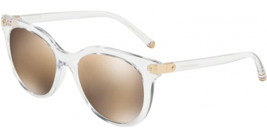 Sunglasses - Dolce & Gabbana - DG6117 - 31335A CRYSTAL // LIGHT BROWN MIRROR GOLD