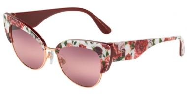 Sunglasses - Dolce & Gabbana - DG4346 - 3194W9 ROSE AND PEONY/ROSE GOLD // PINK PURPLE BIGRADIENT