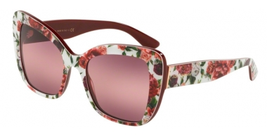 Sunglasses - Dolce & Gabbana - DG4348 - 3194W9 ROSE AND PEONY // PINK PURPLE BIGRADIENT