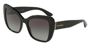 Sunglasses - Dolce & Gabbana - DG4348 - 501/8G BLACK // GREY GRADIENT