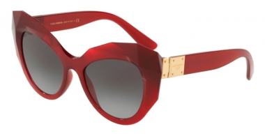 Sunglasses - Dolce & Gabbana - DG6122 - 15518G TRANSPARENT BORDEAUX // GREY GRADIENT