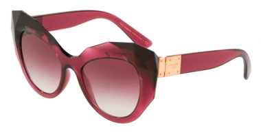 Sunglasses - Dolce & Gabbana - DG6122 - 17548H TRANSPARENT DARK CHERRY // VIOLET GRADIENT