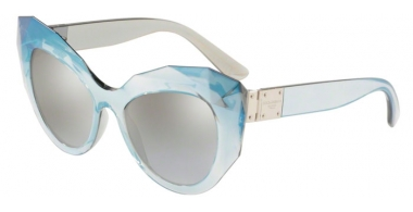 Sunglasses - Dolce & Gabbana - DG6122 - 32016V GREY MIRROR SILVER // LIGHT GREY GRADIENT SILVER MIRROR