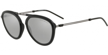 Sunglasses - Emporio Armani - EA2056 - 30016G MATTE BLACK // LIGHT GREY MIRROR SILVER