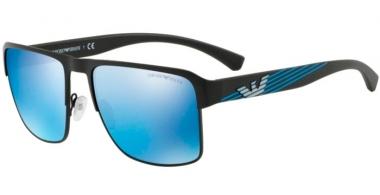 9d06b059fd456 Gafas de Sol - Emporio Armani - EA2066 - 300155 MATTE BLACK    BLUE MIRROR
