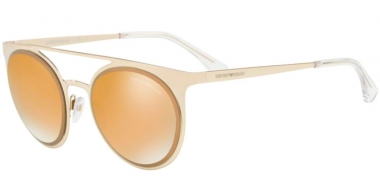 Sunglasses - Emporio Armani - EA2068 - 30135A PALE GOLD // BROWN MIRROR GOLD