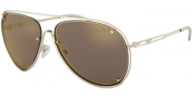 Sunglasses - Emporio Armani - EA2073 - 30135A PALE GOLD // LIGHT BROWN MIRROR GOLD